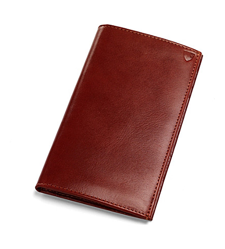 ASPINAL OF LONDON Leather breast wallet (Cognac