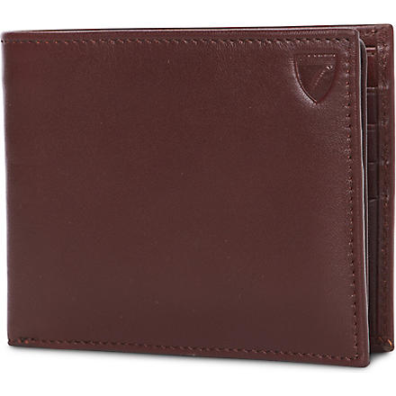 ASPINAL Large ID leather wallet (Cognac