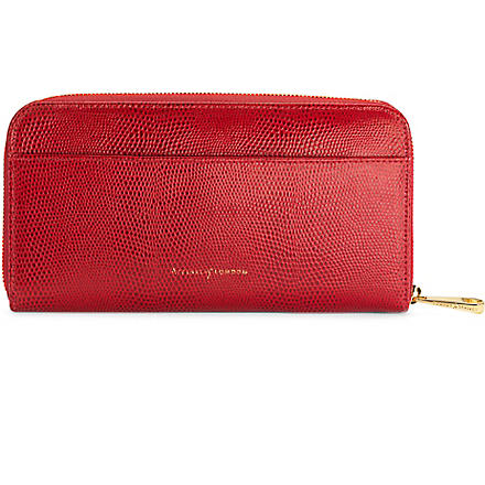 ASPINAL OF LONDON Continental zip around wallet (Red