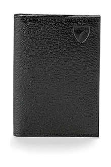 ASPINAL Textured-leather double-fold card wallet