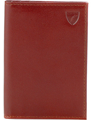 ASPINAL OF LONDON Double credit card case smooth cognac