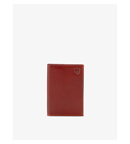 ASPINAL OF LONDON Double-fold leather card holder (Cognac