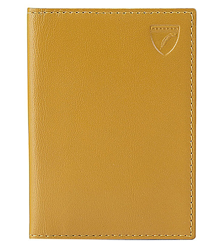 ASPINAL OF LONDON Double-fold leather card holder (Yellow