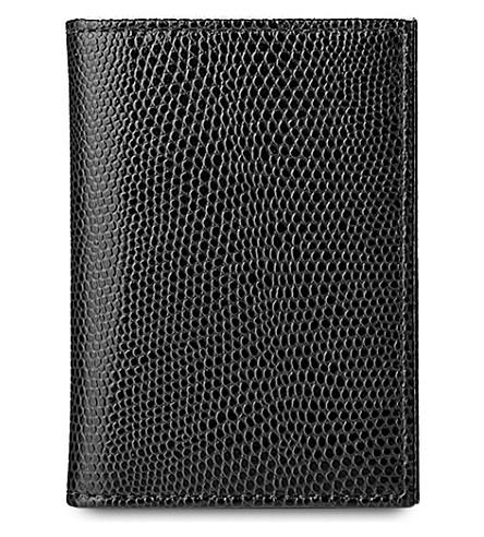 ASPINAL OF LONDON 双折叠皮卡盒 (黑色