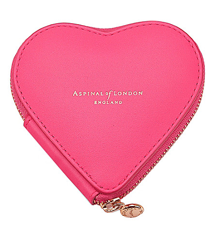 ASPINAL OF LONDON Heart leather coin purse (Pink