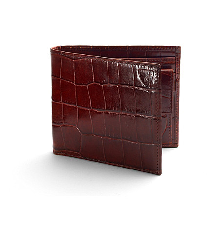 ASPINAL OF LONDON Billfold coin wallet amazon brown & ston (Amazon+brown