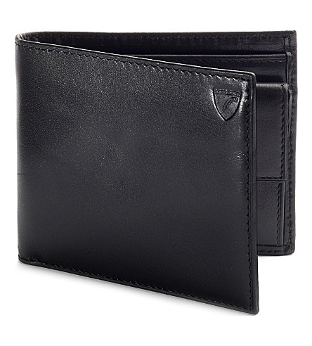 ASPINAL OF LONDON Billfold coin wallet black ebl & cobalt (Black & cobalt blue