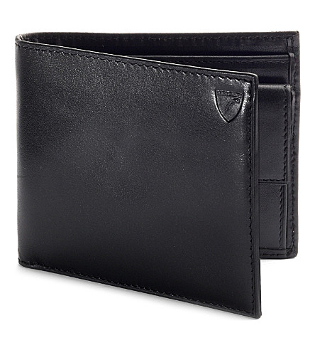 ASPINAL OF LONDON Leather billfold coin wallet (Black