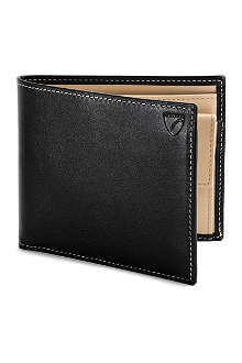 ASPINAL Leather billfold wallet with coin compartment
