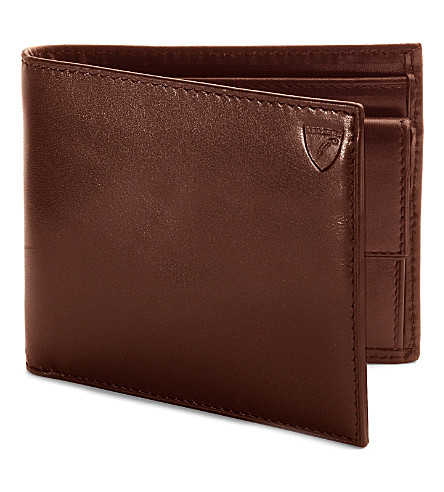 ASPINAL OF LONDON Billfold coin wallet cognac ebl & espres (Cognac & espresso