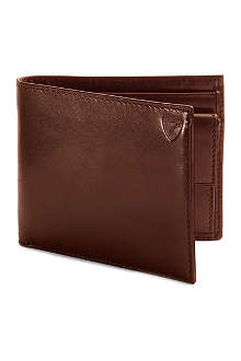 ASPINAL OF LONDON Leather billfold wallet with coin compartment