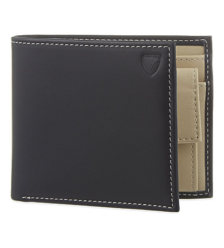 ASPINAL OF LONDON Billfold coin wallet (Navy