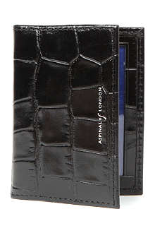 ASPINAL OF LONDON Embossed leather ID and travel card case