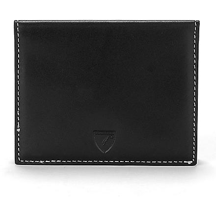ASPINAL OF LONDON Leather ID and travel card case (Black+&+ivory