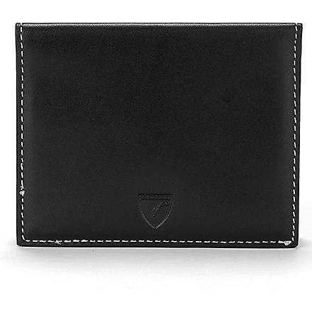 ASPINAL Leather ID and travel card case (Smooth black & ivory