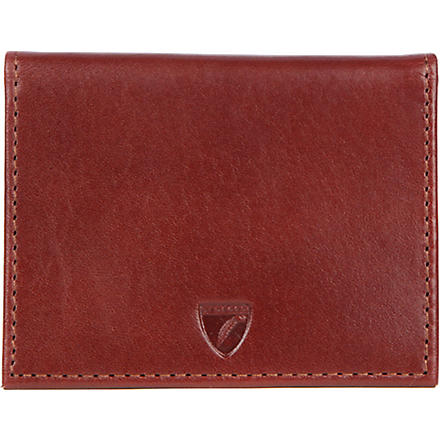 ASPINAL ID and travel card wallet (Cognac & espresso
