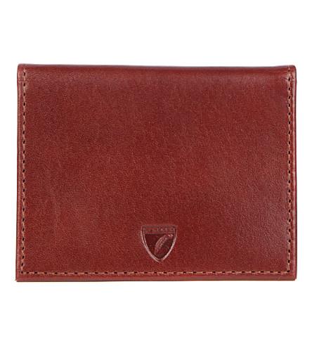 ASPINAL OF LONDON Id & travel card case cognac ebl & espre (Cognac & espresso