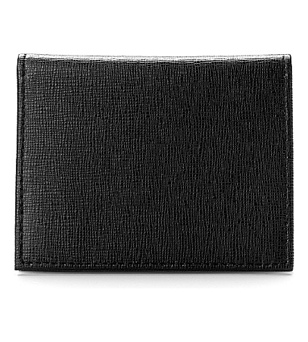 ASPINAL OF LONDON Leather ID and travel card case (Black