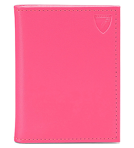 ASPINAL OF LONDON ID & travel card smooth leather case (Pink