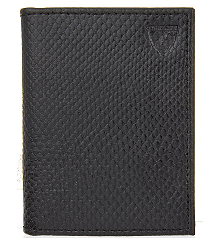 ASPINAL OF LONDON ID & travel card case (Black