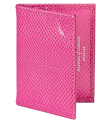 ASPINAL OF LONDON Leather ID & travel card case (Pink