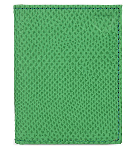 ASPINAL OF LONDON ID and Travel card case (Green