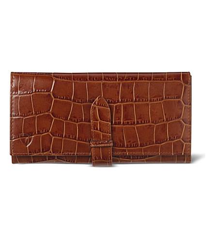 ASPINAL OF LONDON Mock-croc purse wallet (Vintage tan & beige