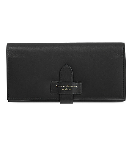 ASPINAL OF LONDON London ladies leather purse (Black