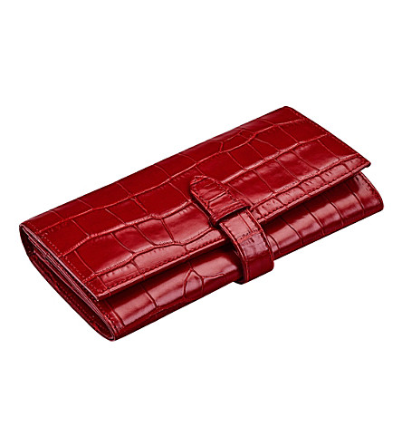 ASPINAL OF LONDON London ladies mock-croc leather purse (Red