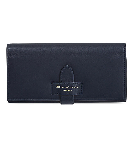 ASPINAL OF LONDON London ladies leather purse (Navy