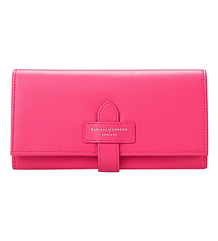 ASPINAL OF LONDON London ladies leather purse (Pink