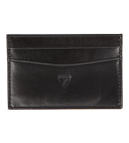 ASPINAL OF LONDON Slim credit card leather case (Black