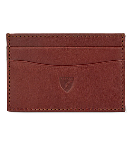 ASPINAL OF LONDON Slim credit card case (Cognac