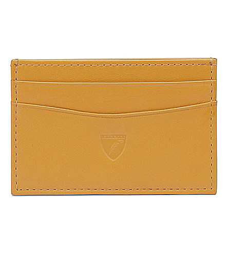 ASPINAL OF LONDON Slim leather credit card case (Yellow