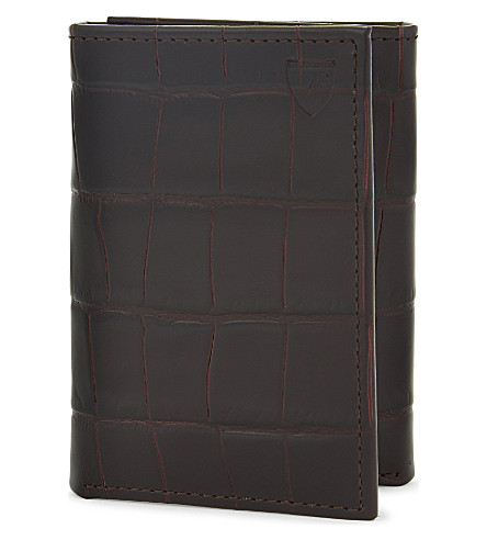 ASPINAL OF LONDON Trifold leather wallet