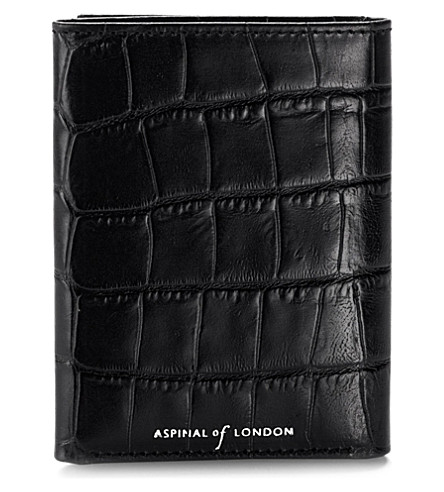 ASPINAL OF LONDON Trifold 皮革钱夹