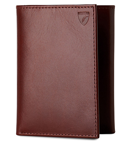 ASPINAL OF LONDON Trifold leather wallet (Cognac