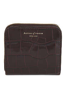 ASPINAL OF LONDON Mini Continental mock-croc leather coin purse