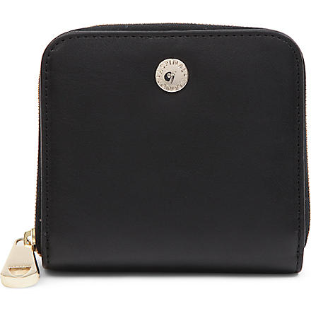 ASPINAL OF LONDON Katie zipped coin purse wallet (Black