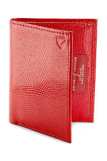 ASPINAL Double credit card case with note pocket