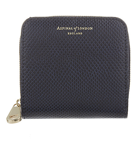 ASPINAL OF LONDON Mini continental coin purse (Navy