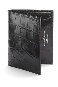ASPINAL Mock-croc leather card wallet