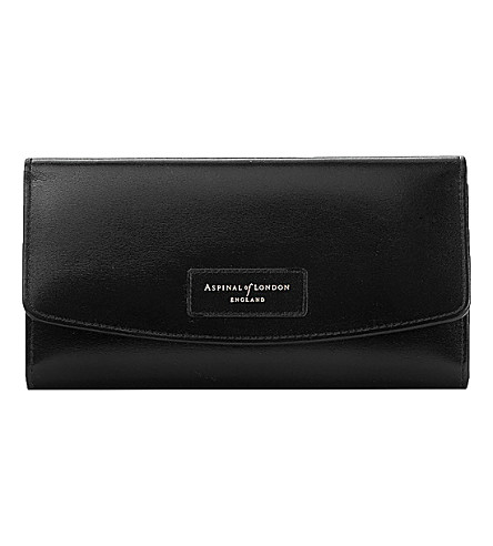 ASPINAL OF LONDON Brook street leather purse (Black