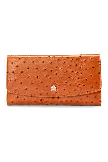 ASPINAL OF LONDON Brook Street ostrich-print wallet