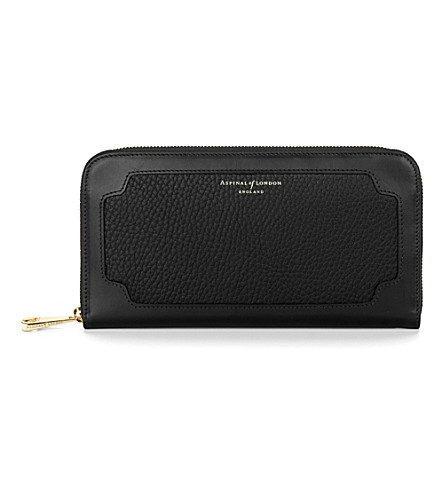 ASPINAL OF LONDON Marylebone leather purse (Black