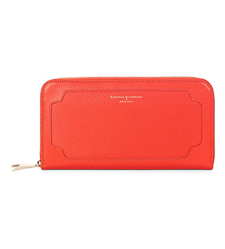 ASPINAL OF LONDON Marylebone purse poppy pebble (Poppy