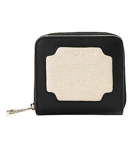 ASPINAL OF LONDON Marylebone contrast-leather mini purse (Monochrome