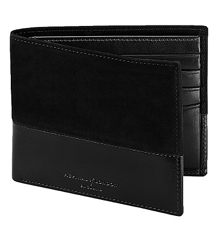 ASPINAL OF LONDON Shadow billfold leather wallet (Black