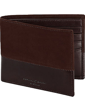 ASPINAL OF LONDON Shadow nubuck wallet