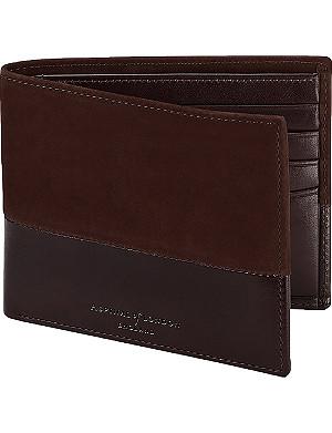ASPINAL OF LONDON Shadow nubuck wallet